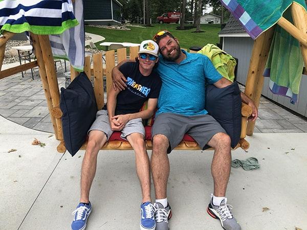 Chad and Andy at the lake