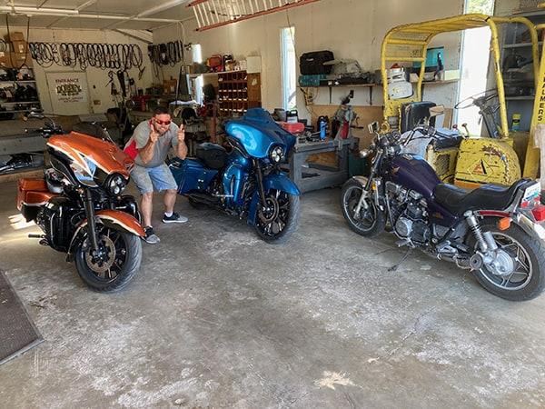Chad likes his Harley