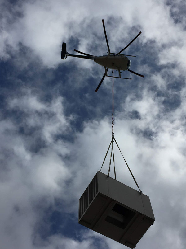 Rooftop Installation Using a Helicopter