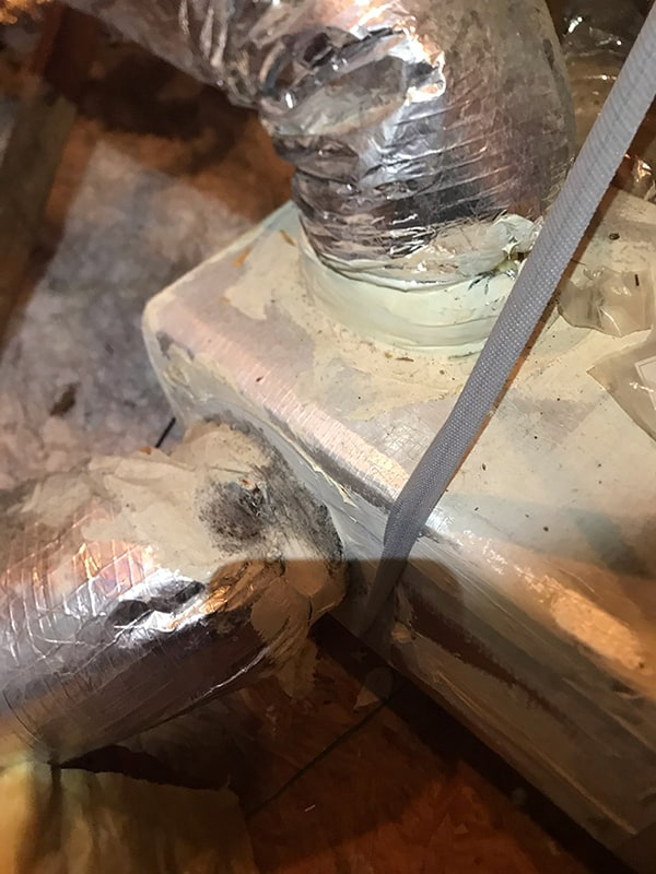 High Humidity and Mold Root Cause - Air Leakage at Duct Connections
