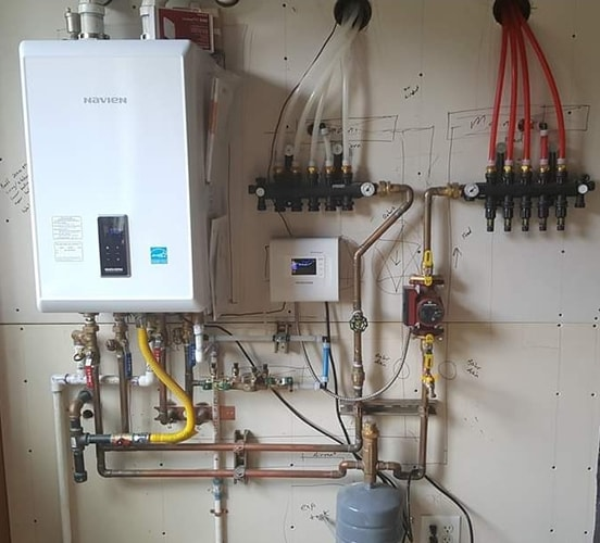 Hydronic heating installation by A Quality Plumber
