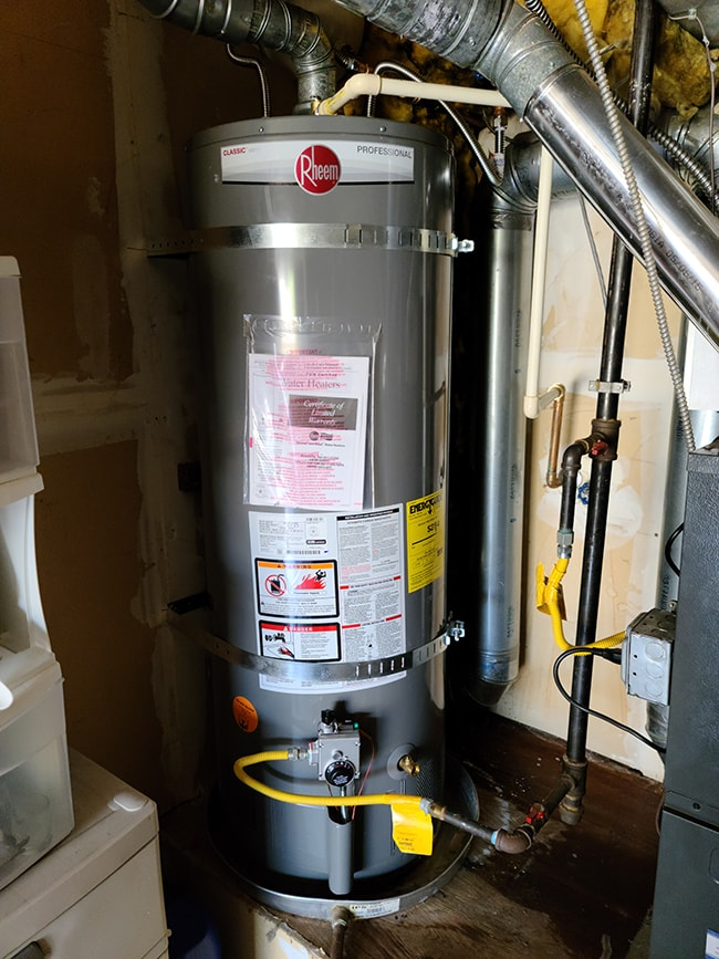 Water heater installation by A Quality Plumber