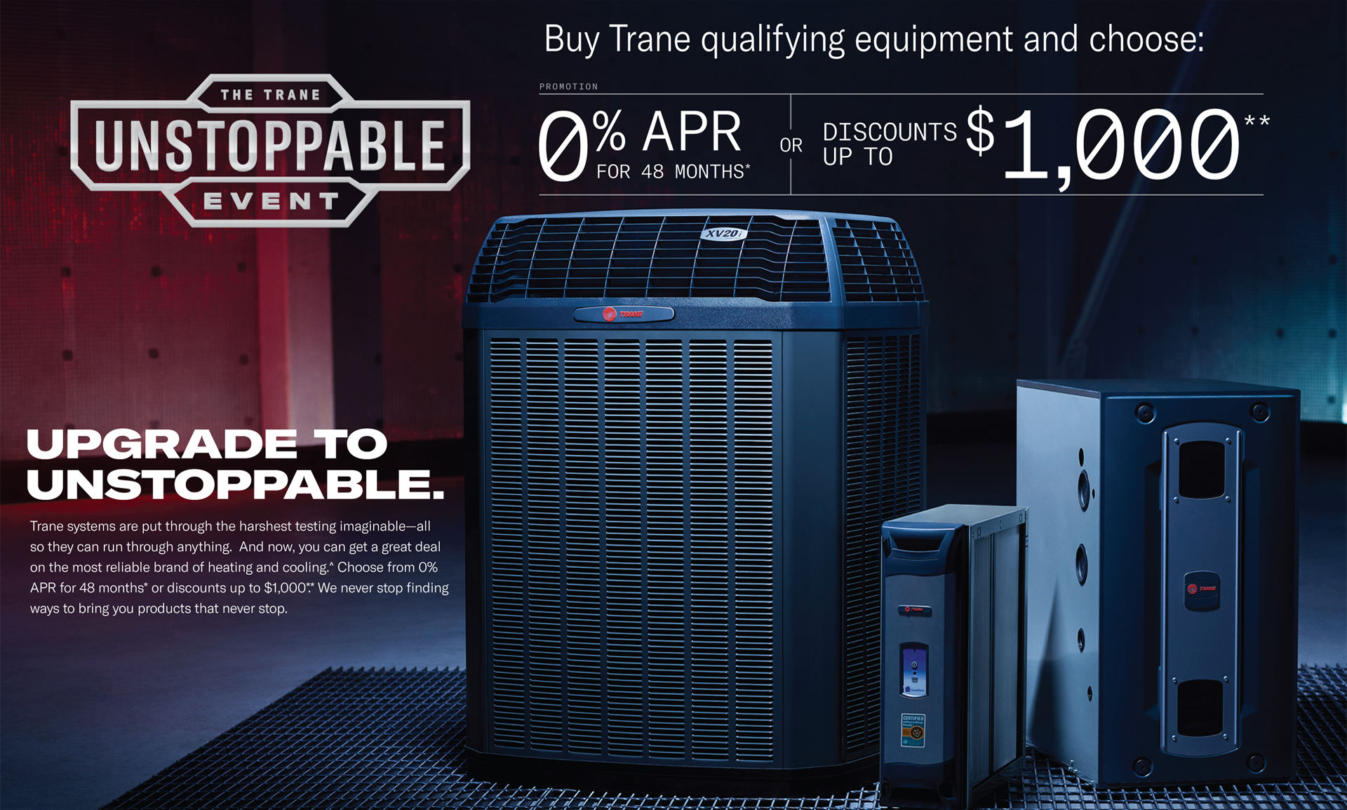 Trane Fall 2018 Unstoppable Promotion