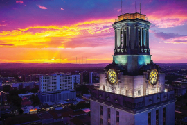 UT Tower at Sunset | DHills Photography