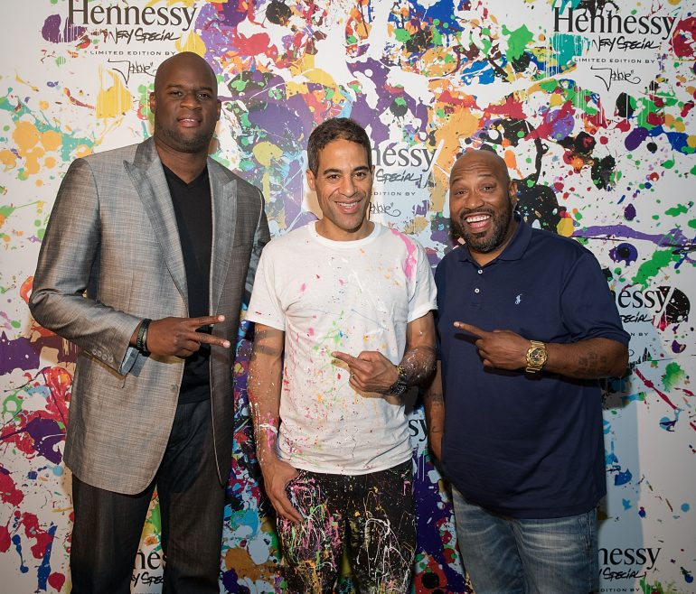 Celebrities at Hennessy JonOne Party