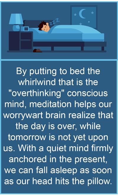 how meditation dissolves sleep disorders