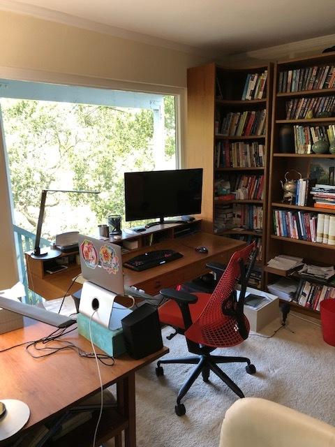 Home office setup of Adam Frankl, VP Marketing