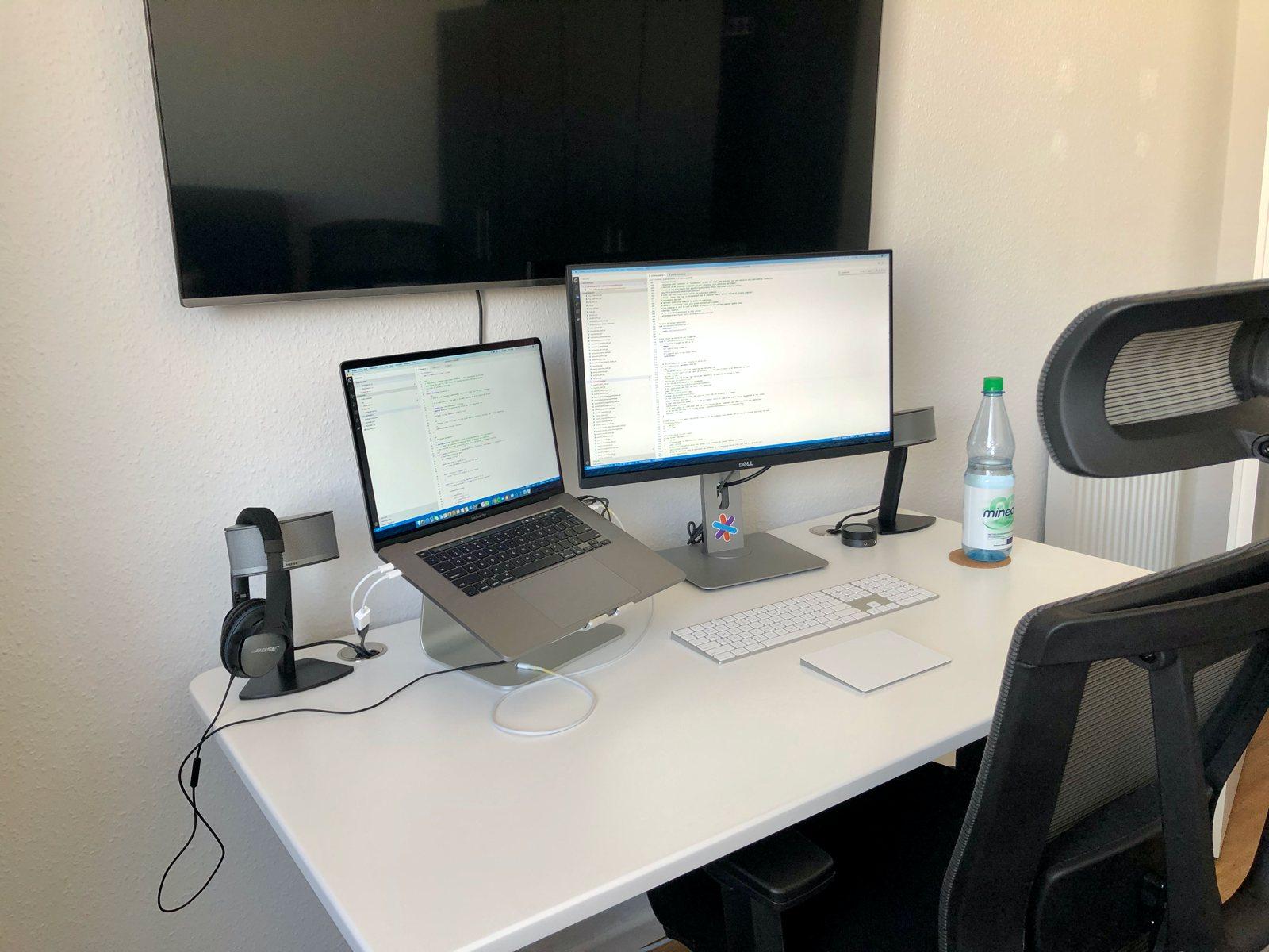 Home office setup of Erik Seliger, software engineer