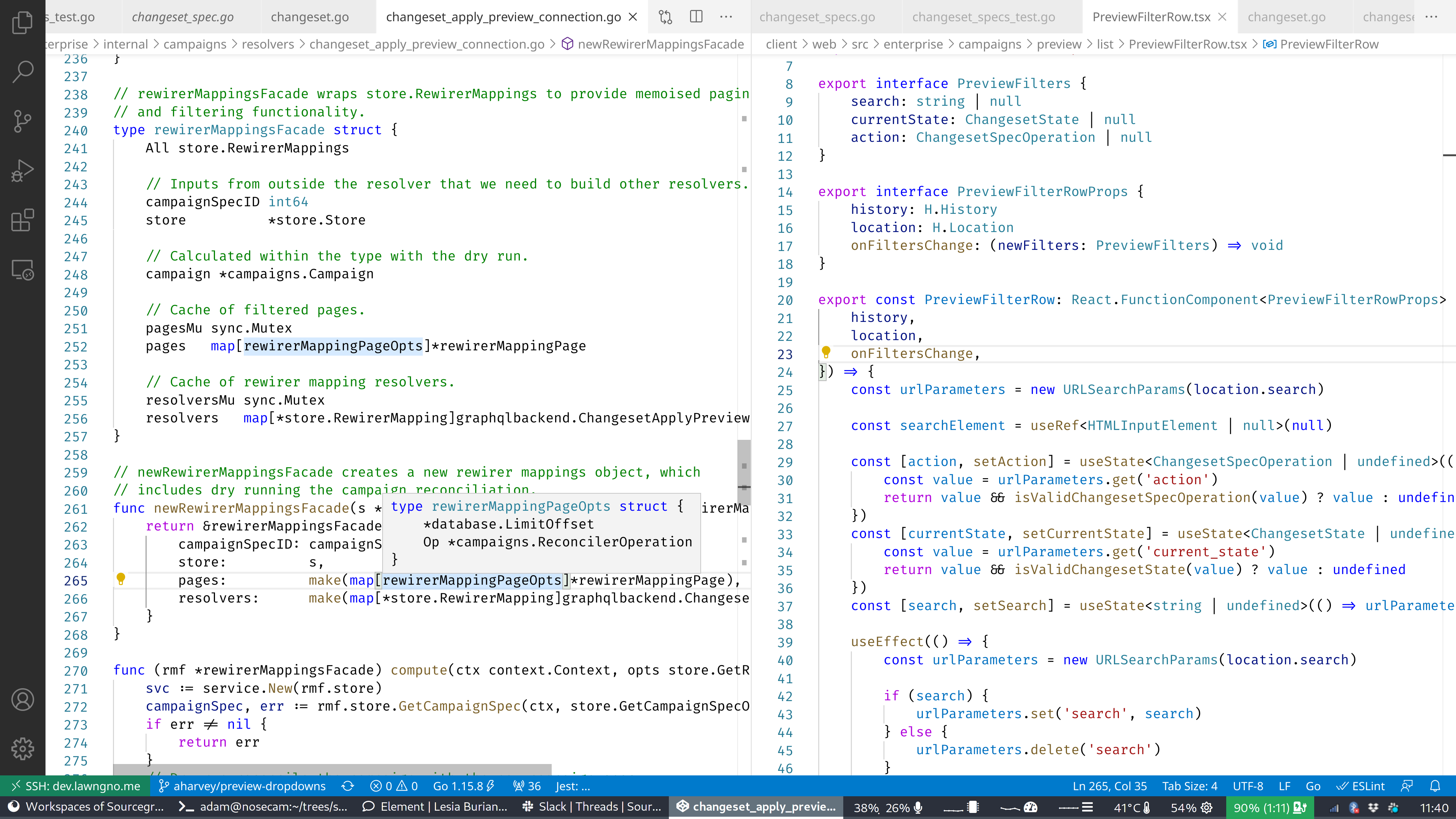 VSCode workspace of Adam Harvey, Software Engineer