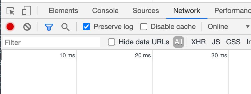 Preserve log in Chrome