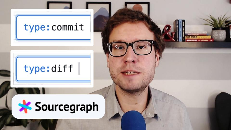 Searching commits and diffs.