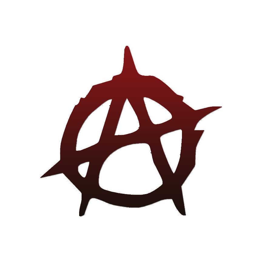 Anarchy Symbol Vinyl Decal Sticker Multiple Patterns Sizes