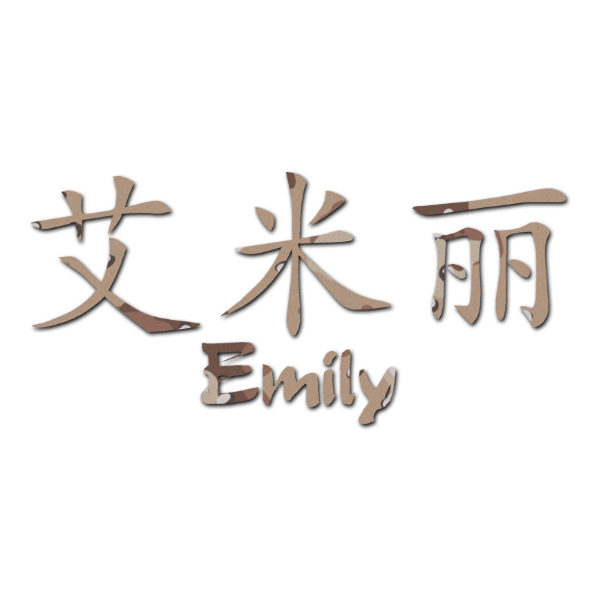Chinese Symbol Emily Name Decal Sticker Multiple Patterns