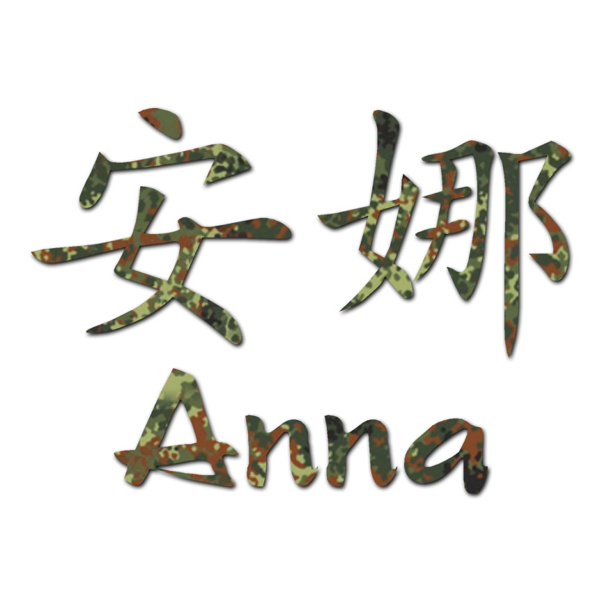 Chinese Symbol Anna Name Decal Sticker Multiple Patterns Sizes