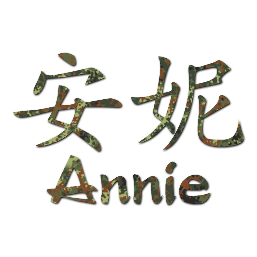 Chinese Symbol Annie Name Decal Sticker Multiple Patterns