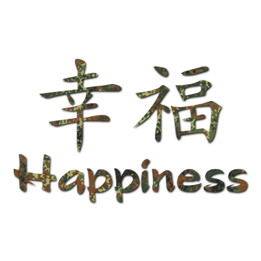 Happiness Chinese Symbols Decal Sticker Multiple Patterns