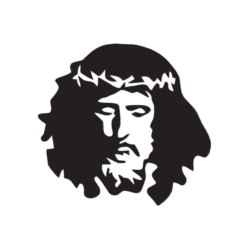 Jesus Christian Face - Vinyl Decal Sticker - Multiple Color & Sizes ...
