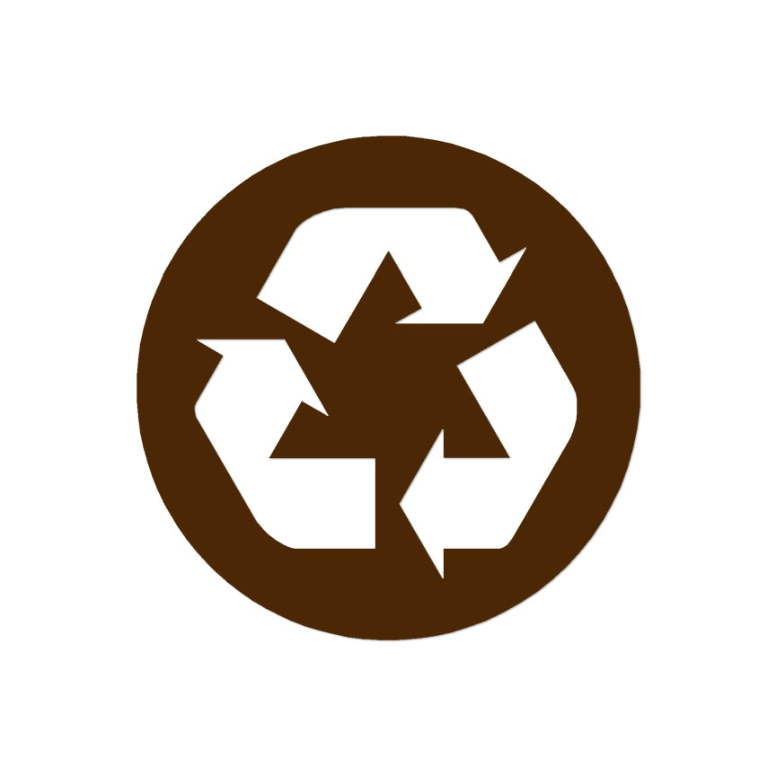 Recycle Symbol Recycling Decal Sticker Multiple Color Sizes