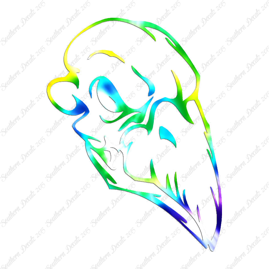 Bird skull monster vinyl decal sticker multiple patterns