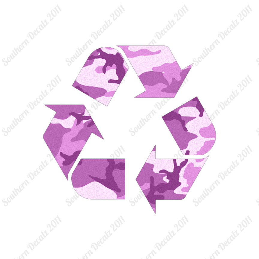 Recycling Symbol Recycle Decal Sticker Multiple Patterns Sizes