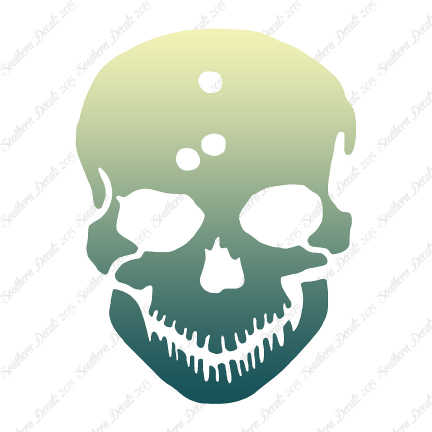 Skull bullet holes vinyl decal sticker multiple patterns