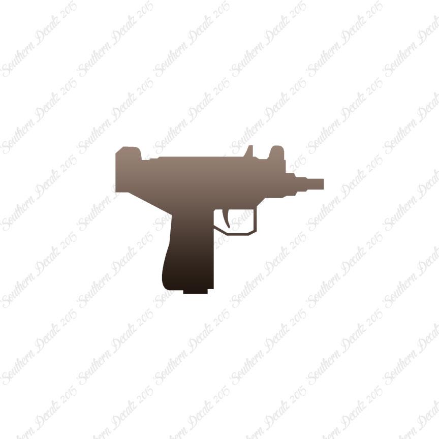 Uzi machine pistol vinyl decal sticker multiple patterns