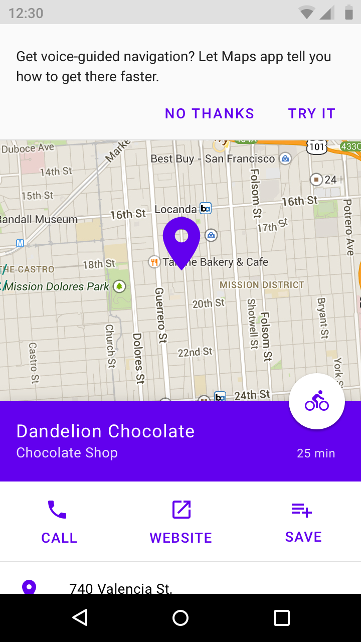 Android permissions - Material Design