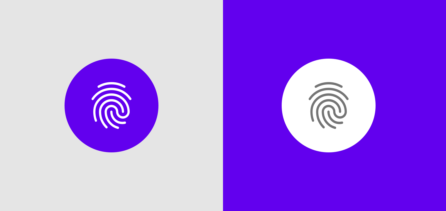Android fingerprint - Material Design