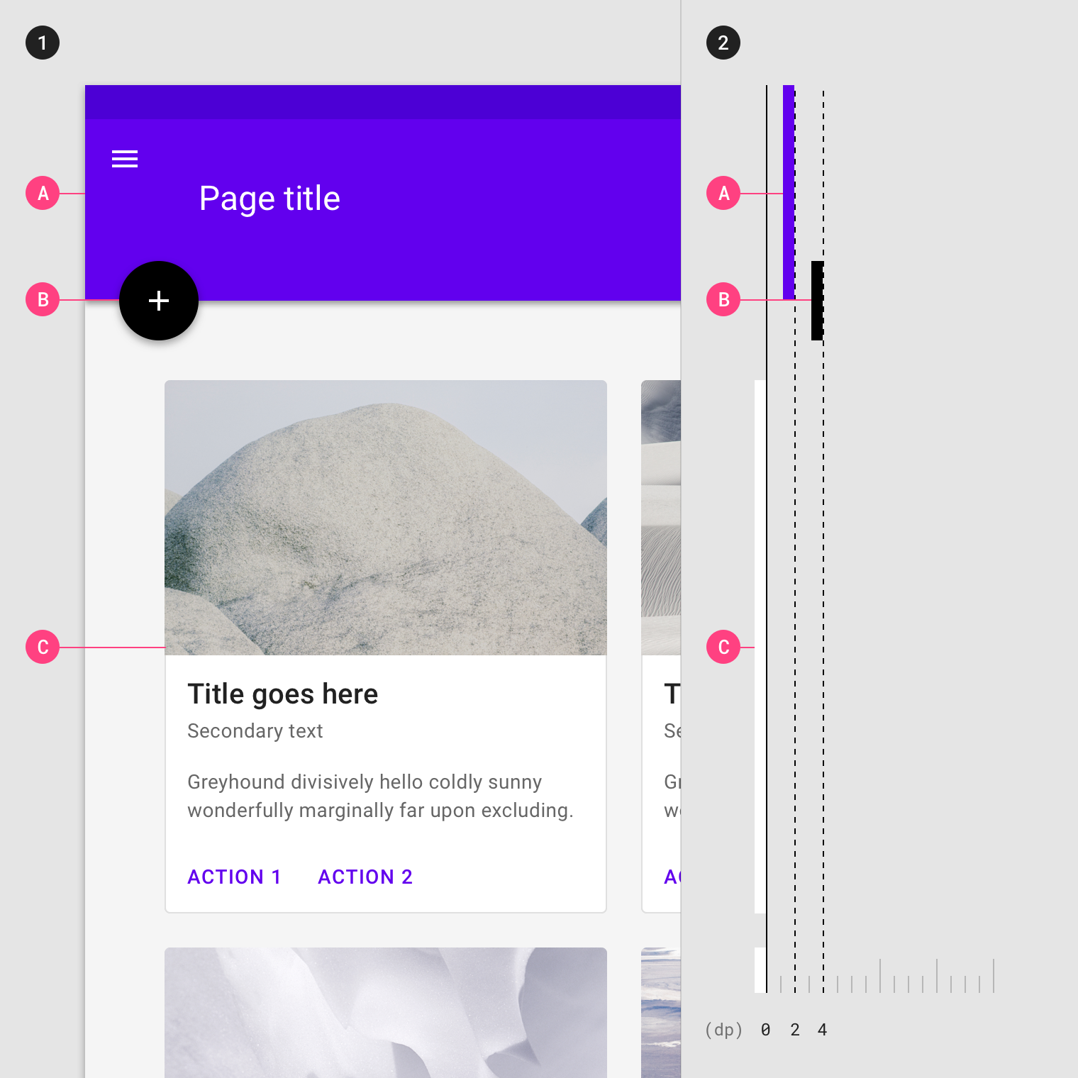 Elevation - Material Design