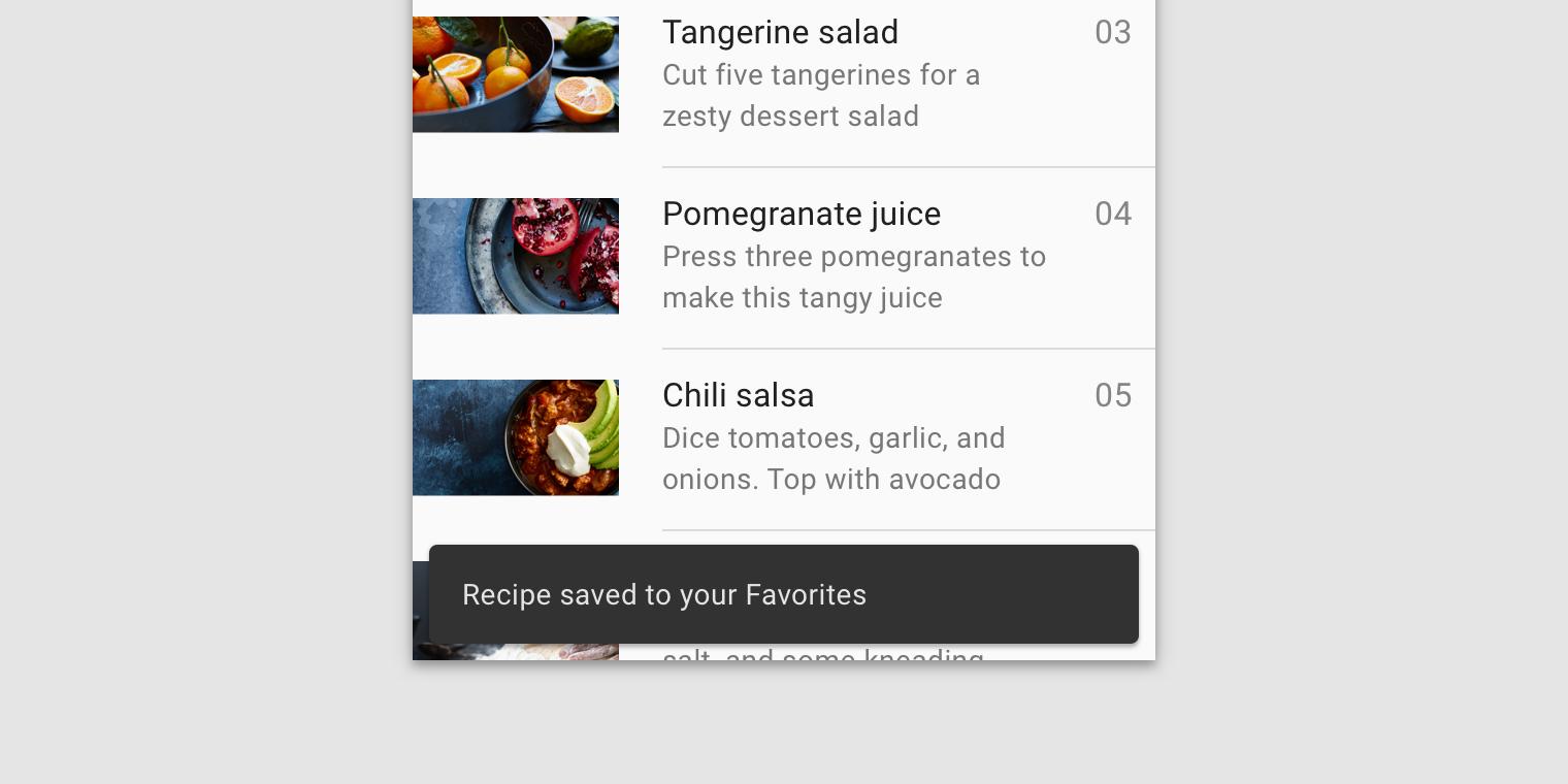 Snackbars - Material Design