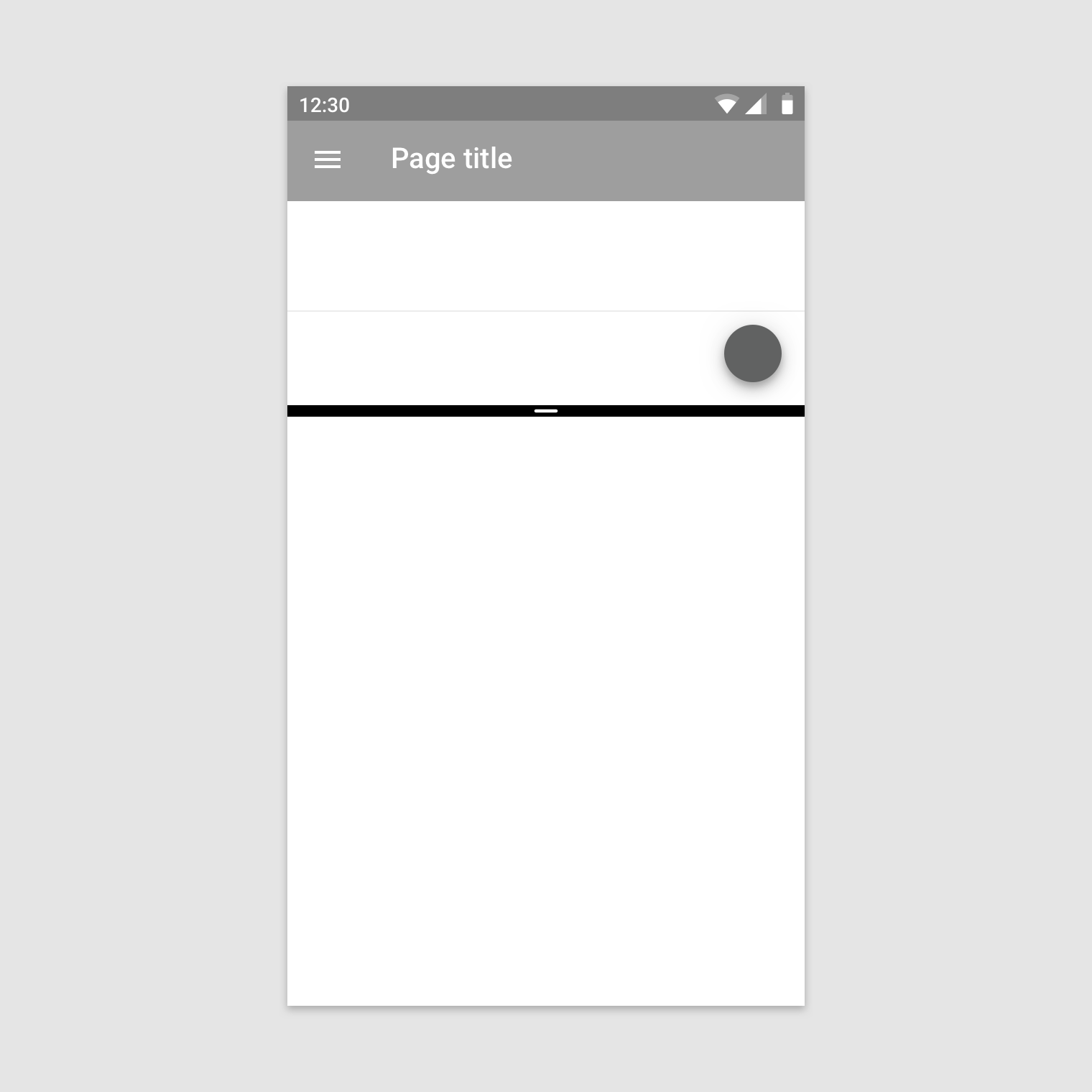 Android split-screen - Material Design