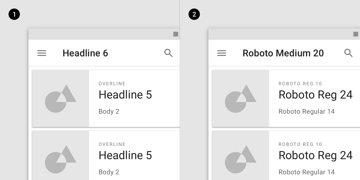 The type system - Material Design