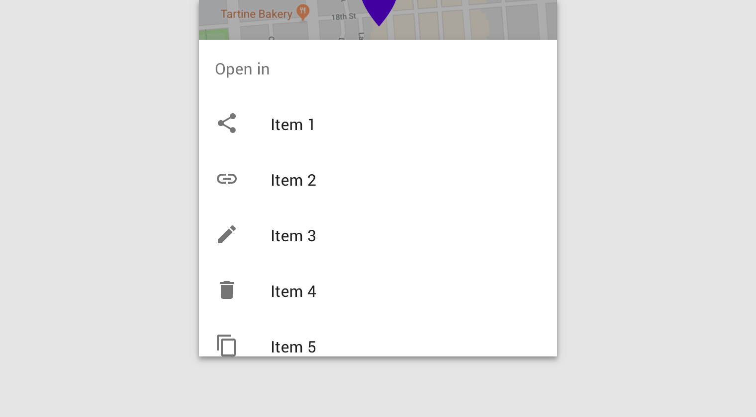 sheets bottom material design