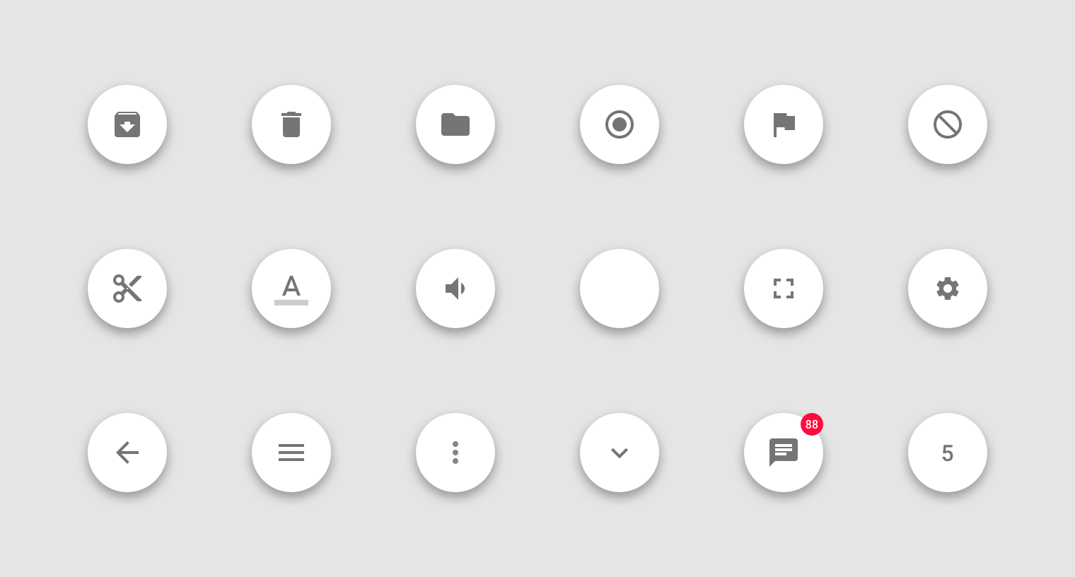 buttons floating action button material design