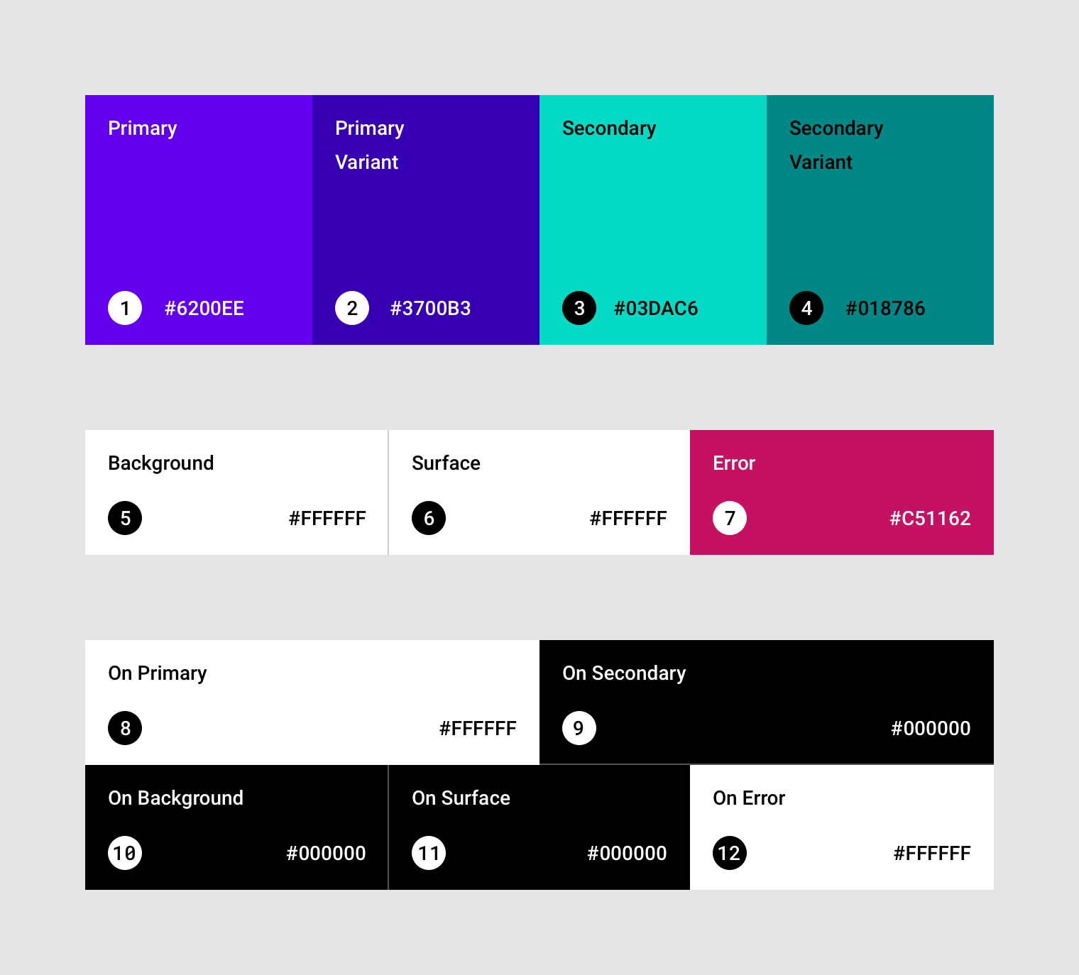 implementing your theme material design