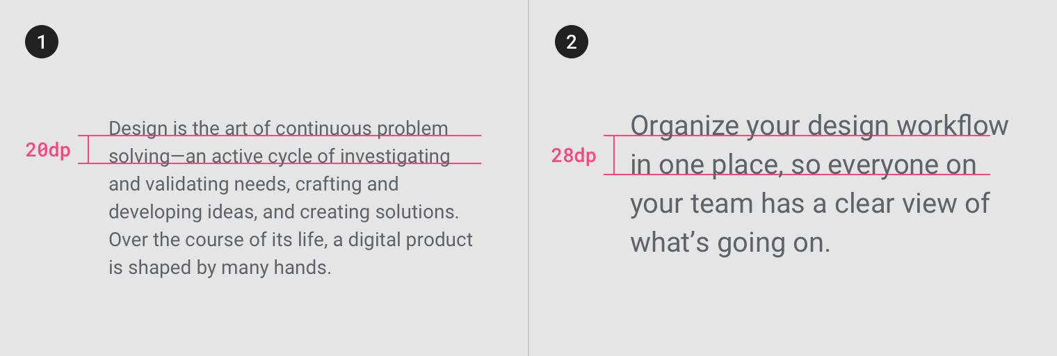 Understanding typography - Material Design