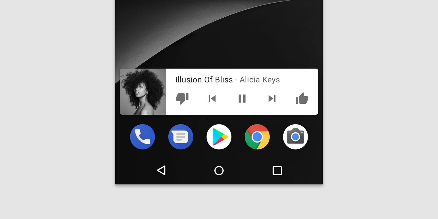 Android widget - Material Design