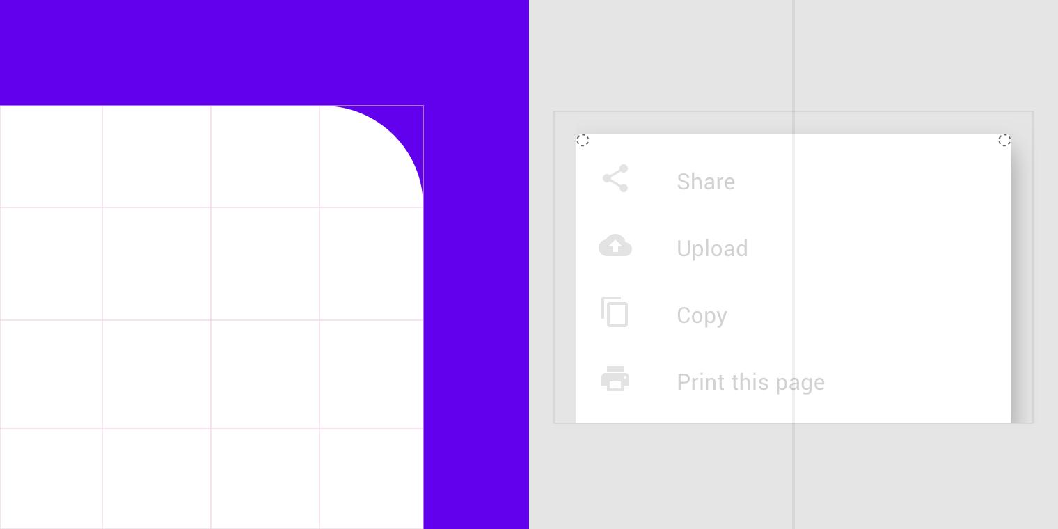 Applying shape to UI - Material Design