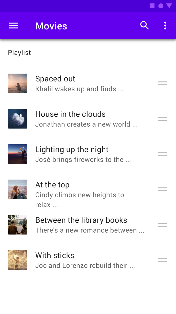 Lists Material Design