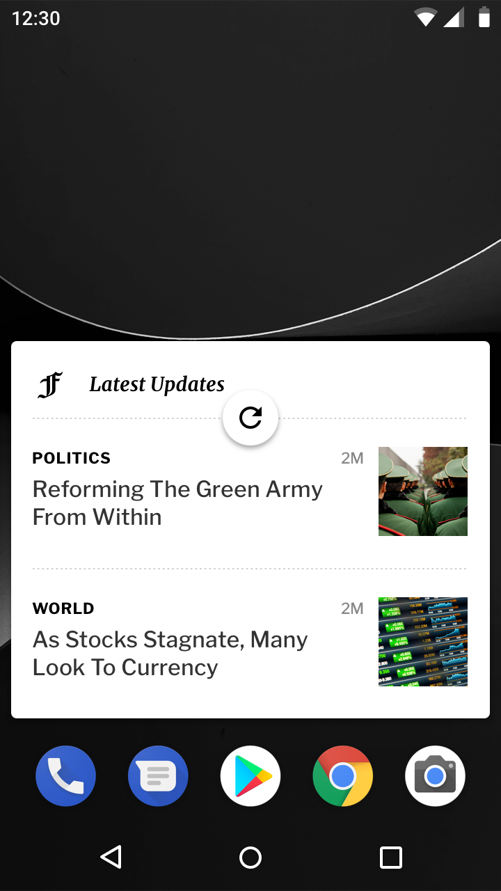 Android swipe to refresh - Material Design