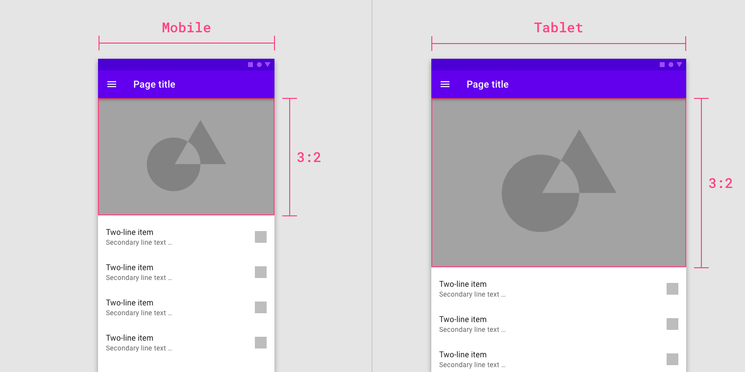 Spacing methods - Material Design