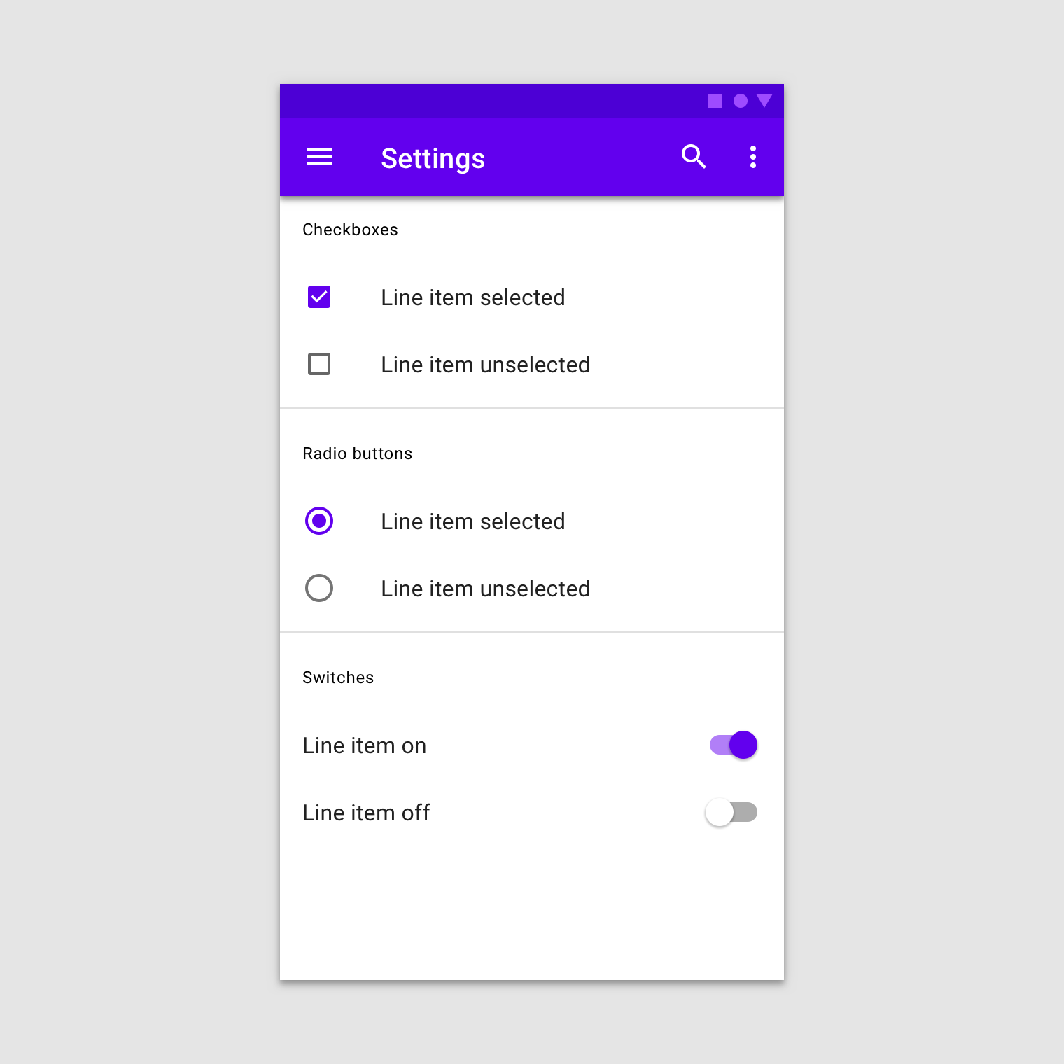 Selection Controls Material Design