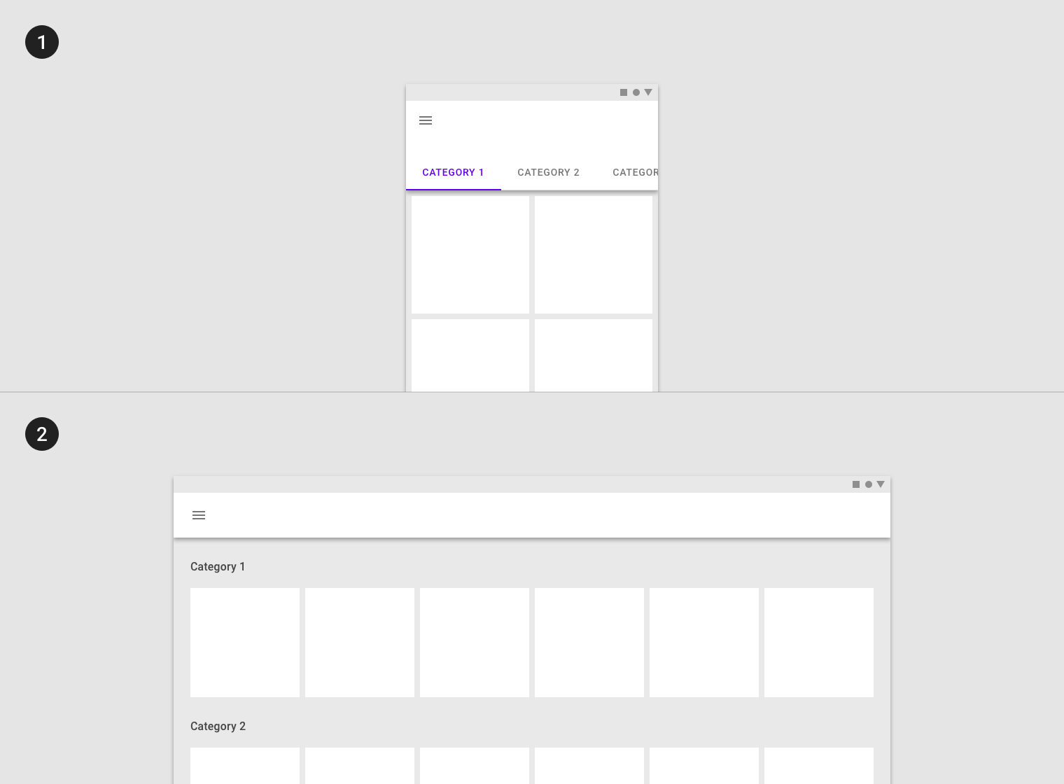 Responsive layout grid - Material Design