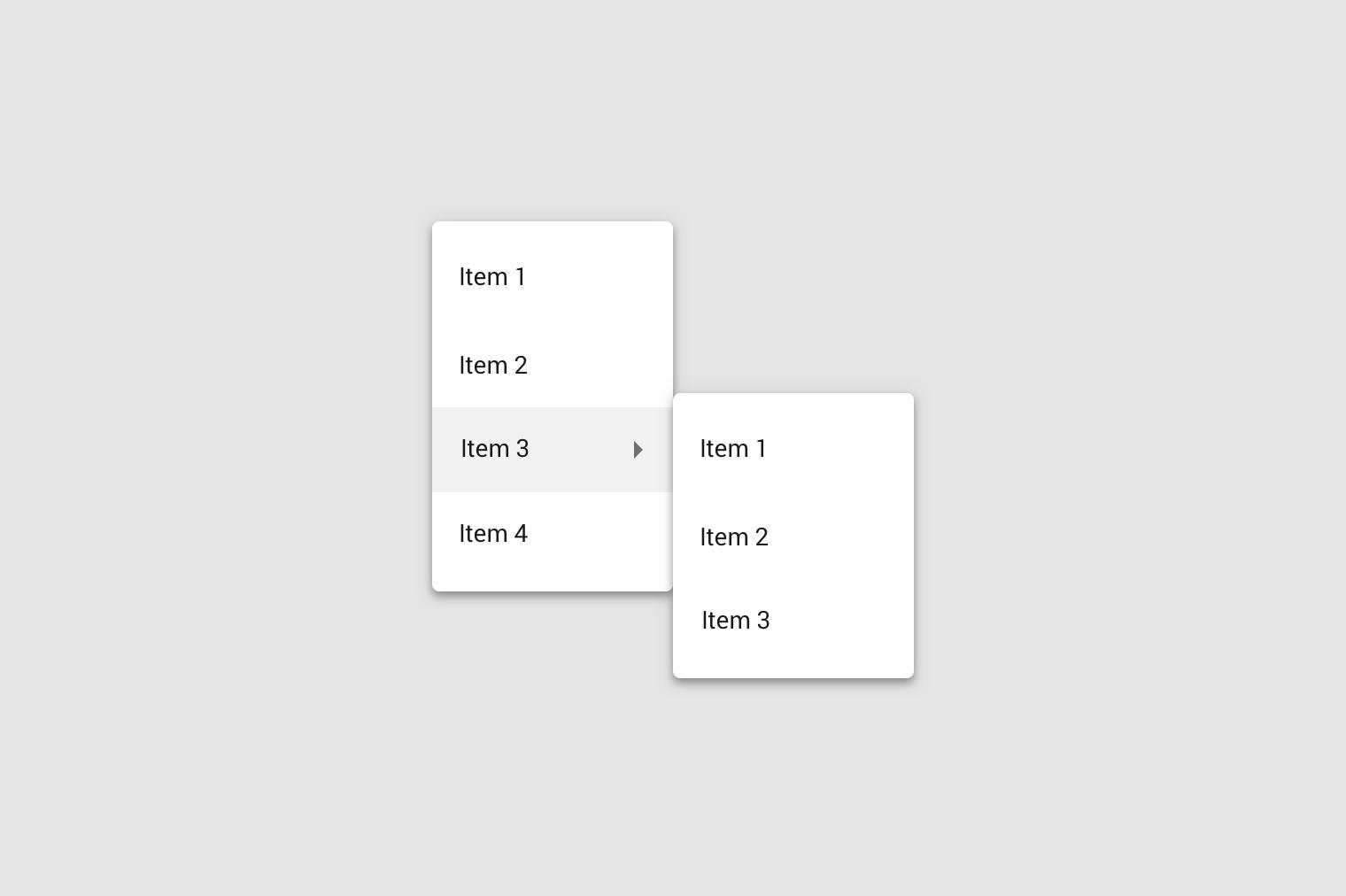 menus material design