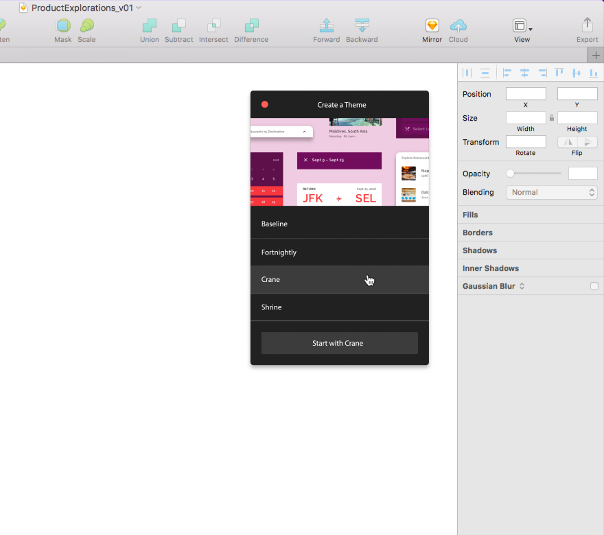 Theme Editor Home - Material Design