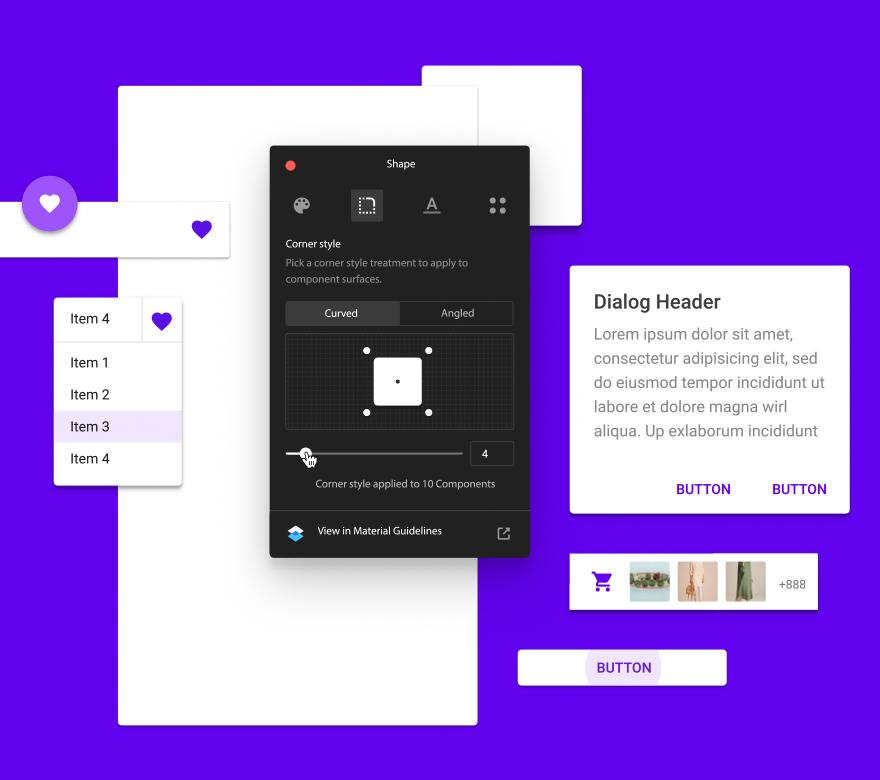 Theme Editor Home - Material Design
