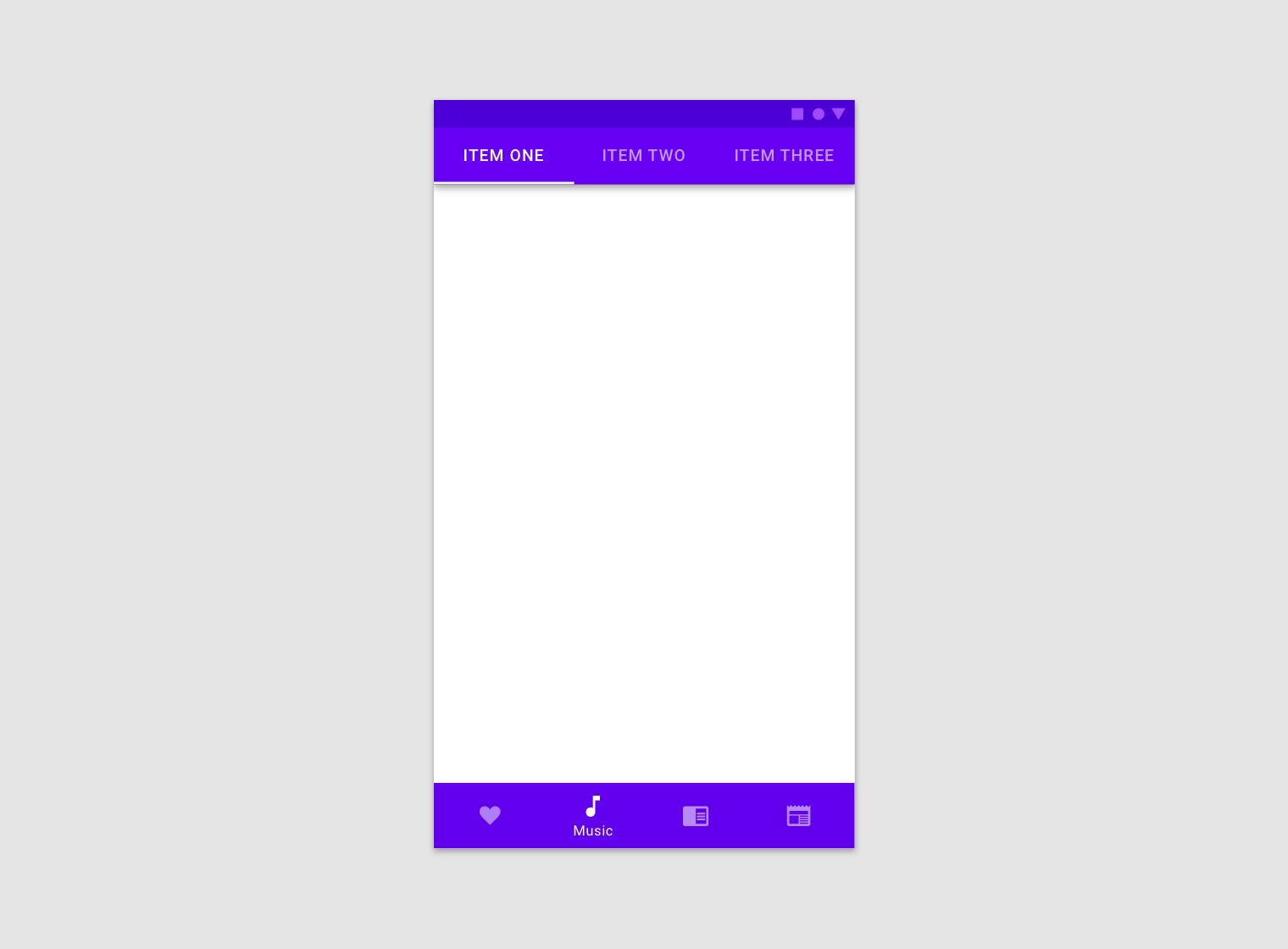 Bottom navigation - Material Design