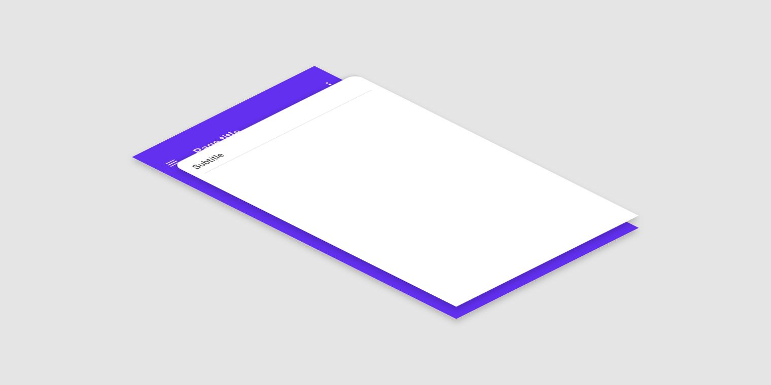 Backdrop - Material Design