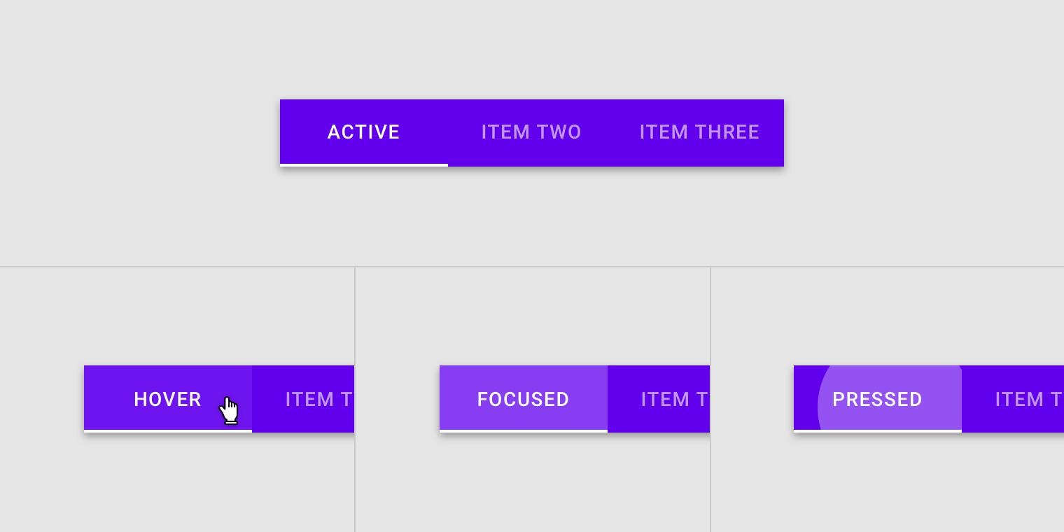 Tabs - Material Design