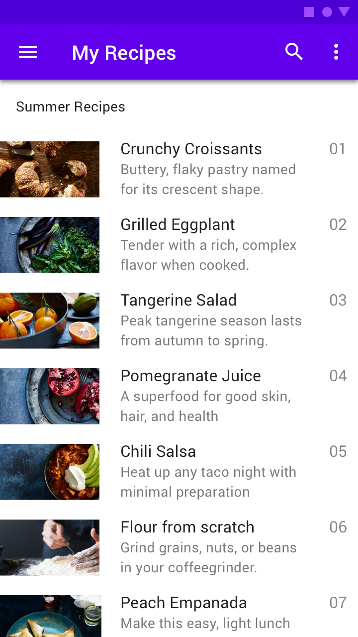 Lists - Material Design